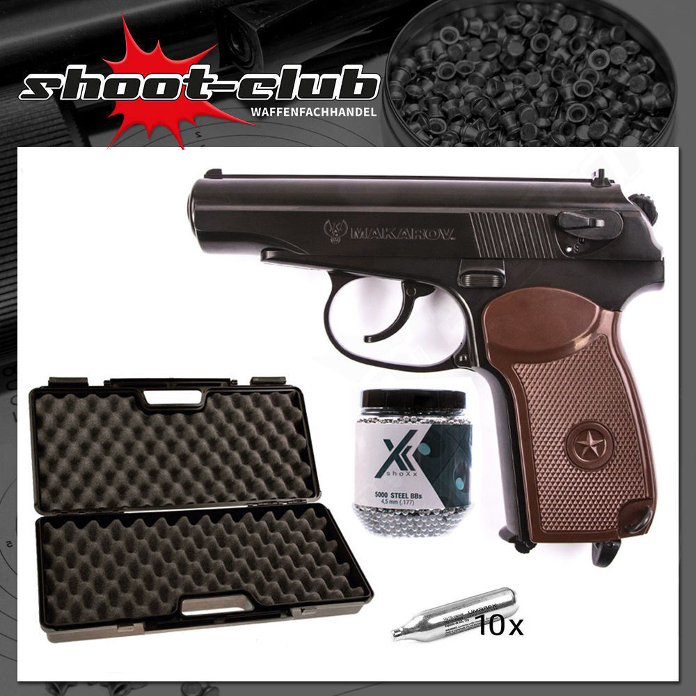 Umarex Makarov Blowback CO2 Pistole 4,5mm Stahlkugeln - Koffer-Set