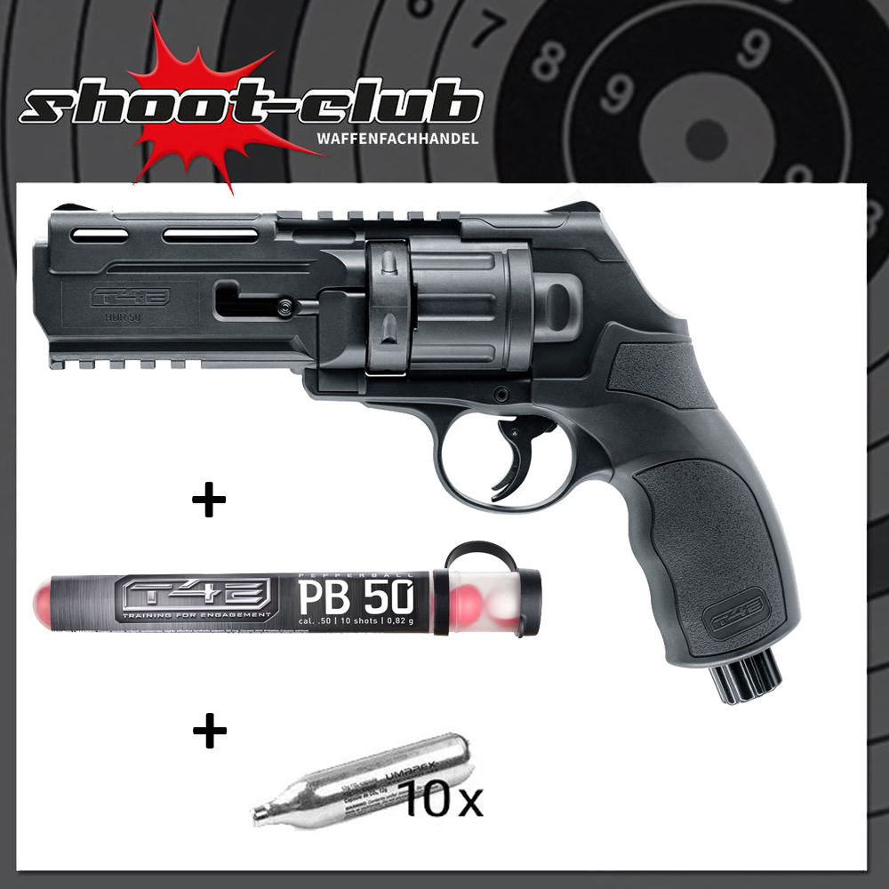 Umarex T4E HDR 50 CO2 Revolver .50 - Set mit Pepperballs