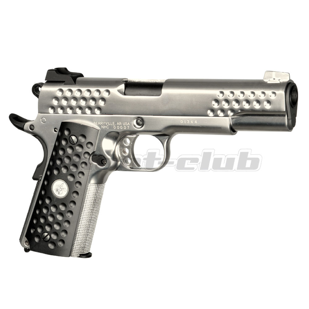 WE Knight Hawk Full Metal GBB Airsoft Pistole 6 mm - Silver
