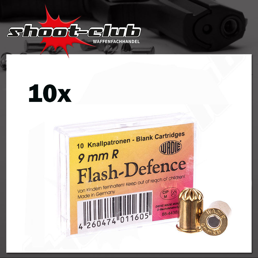 Wadie Flash Defense Revolver Knallpatronen Kal. 9mm R.K. - 100 Stk.