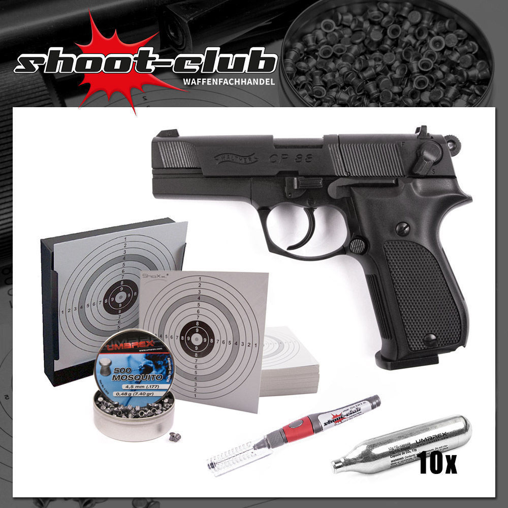 Walther CP88 CO2 Pistole 4,5mm Diabolo Sparset