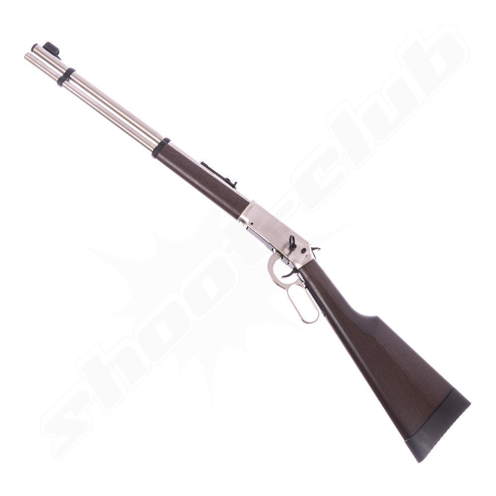 Walther Lever Action CO2 Gewehr Kal. 4,5 Diabolos - Steel Finish
