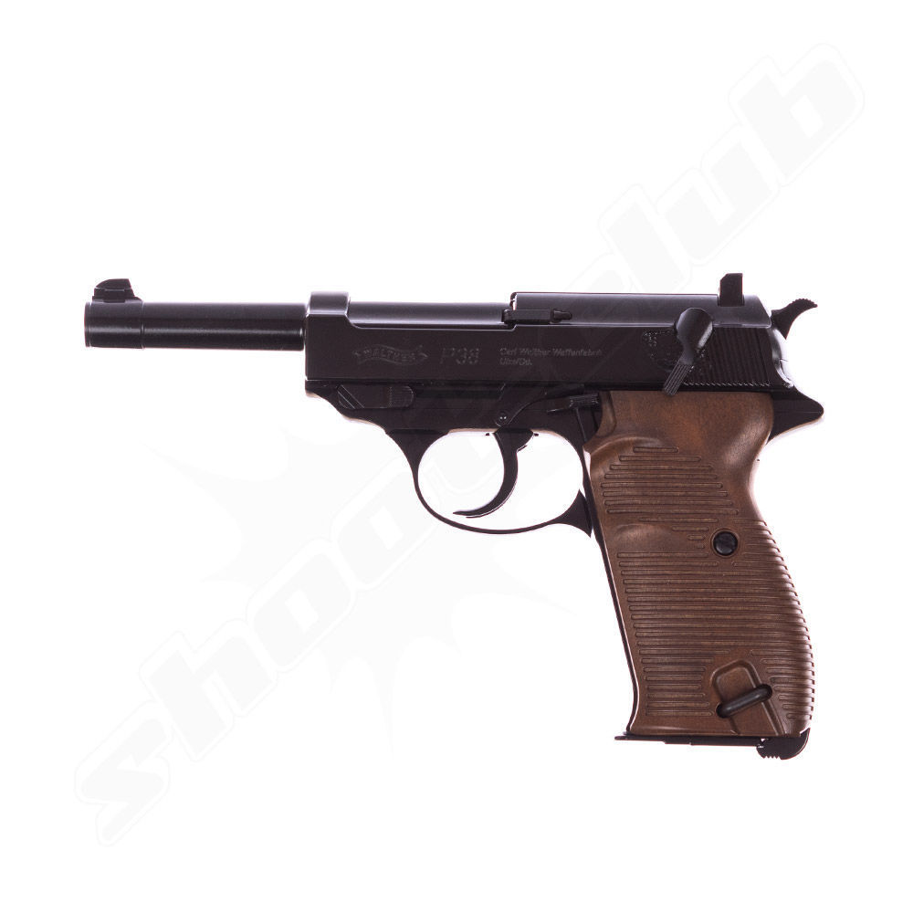 Walther P38 CO2-Pistole - Kal. 4,5mm Stahl BB Blow Back