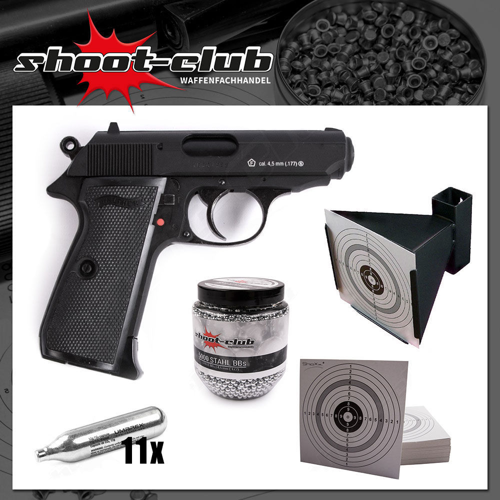 Walther PPK/S CO2 Pistolen Spar-Set middle