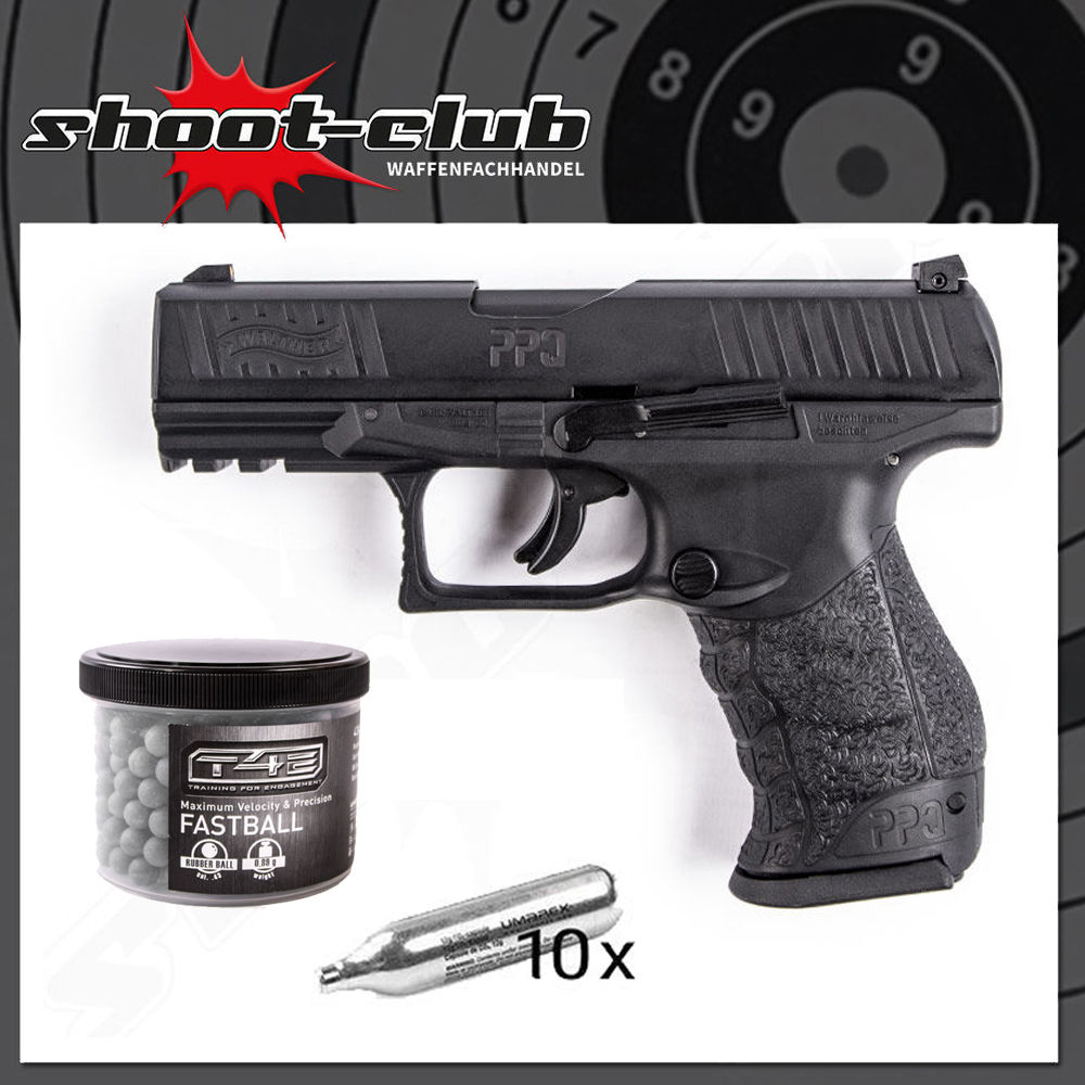 Walther PPQ M2 T4E RAM .43 - 4 Joule im Set T4E Fastballs .43