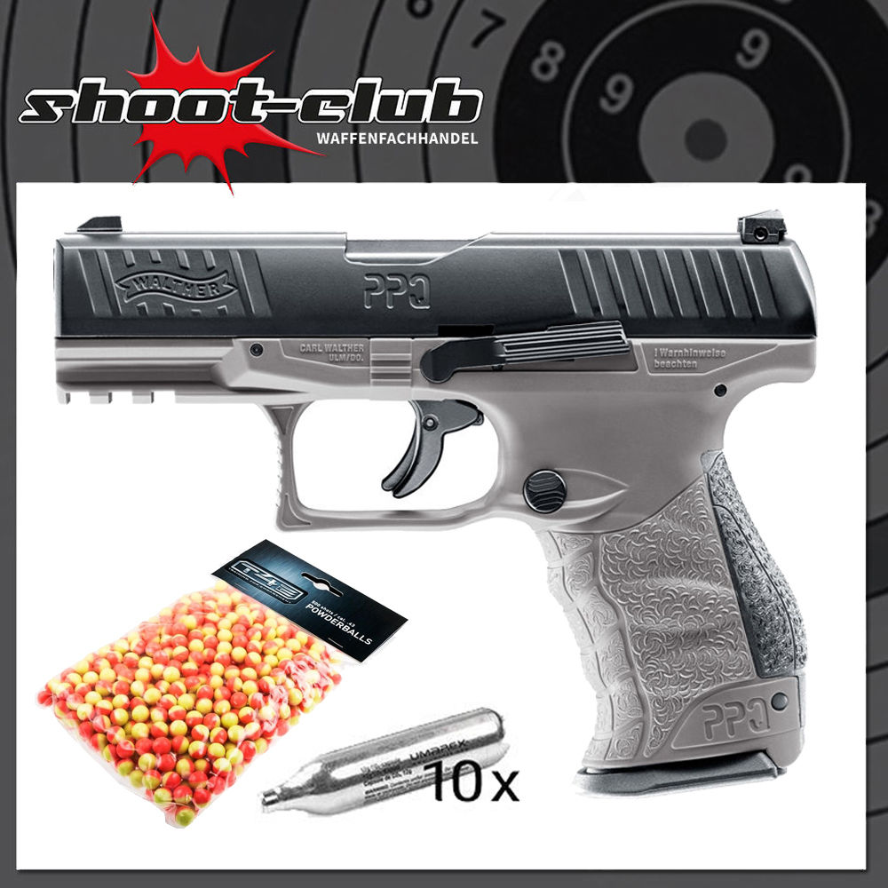 Walther PPQ M2 T4E Tungsten Gray .43 inkl. Battle Dust Powderballs