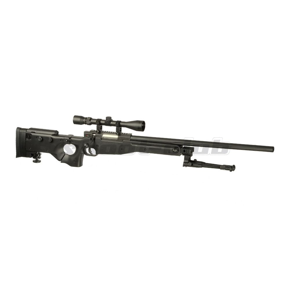 Well AW .338 MB08 Airsoft Sniper Starter Set Upgraded - schwarz