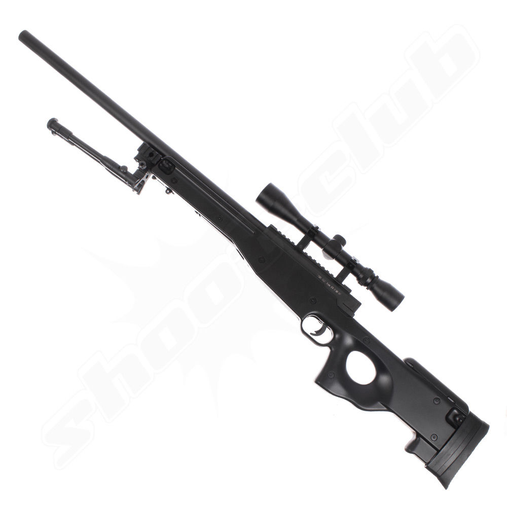 Well L96 MB-01 Upgraded Airsoft Sniper Set schwarz - 2,6 Joule