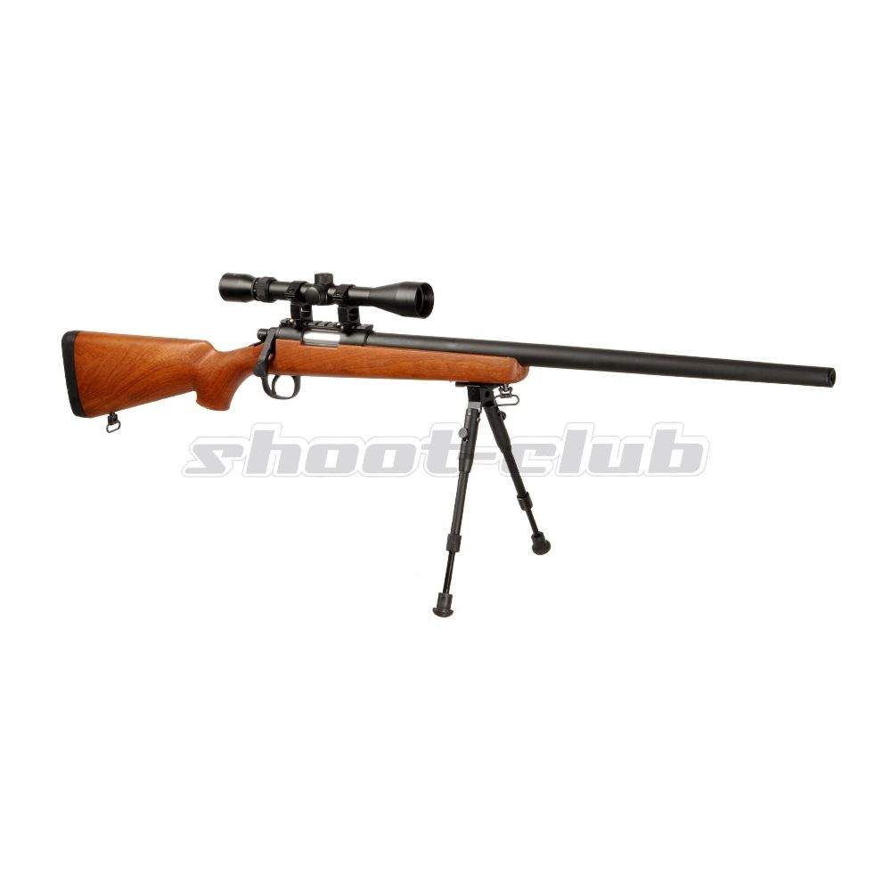 Well MB02 6mm Airsoft Sniper Set SR-1 Holzoptik