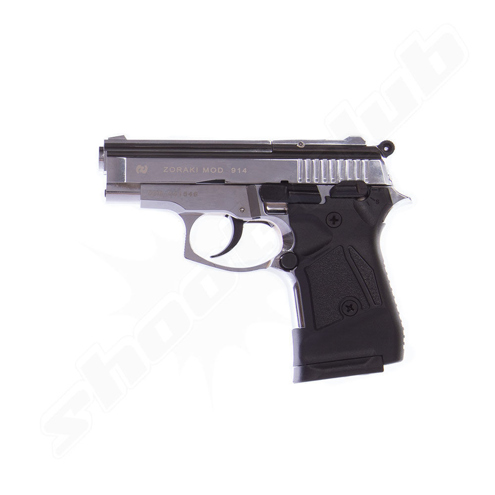 Zoraki 914 chrom Schreckschusspistole 9mm P.A.K.