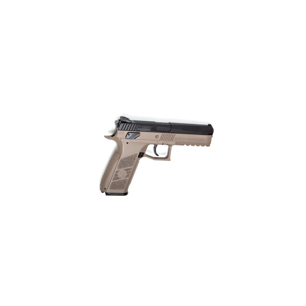 KJ Works CZ P-09 Airsoft CO2 GBB Pistole ab18 - TAN Bild 2