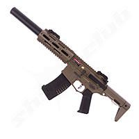 Amoeba M4 014 EFCS S-AEG Honey Badger 6mm Dark Earth