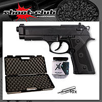 Beretta Elite II CO2 Pistole 4,5mm BBs - 2,5 Joule - Koffer-Set