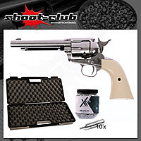 CO2 Revolver COLT SAA .45 Peacemaker 4,5mm BBs - Koffer-Set