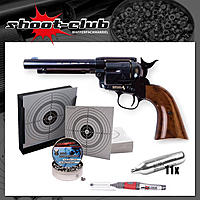 COLT SAA .45 CO2-Revolver 4,5mm BBs - Blue Finish