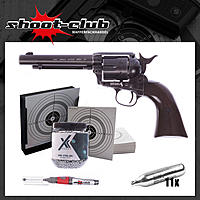 COLT SAA .45 Peacemaker Antique CO2-Revolver 4,5mm BB im Set
