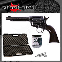 COLT SAA .45 Peacemaker CO2 Revolver 4,5 mm BBs Antique Finish - Koffer-Set