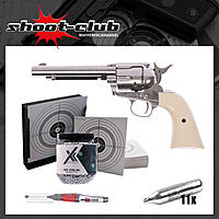 COLT SAA .45 Peacemaker CO2-Revolver 4,5mm BB - Nickel