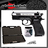 CZ75D Compact Dual Tone CO2 Pistole Kal. 4,5mm BB - Koffer-Set