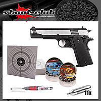 Colt Government 1911 A1 Dark OPS CO2-Pistole 4,5 mm Set