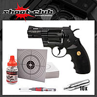 Colt Python 2,5 CO2 Revolver 4,5mm Stahl BB - Set