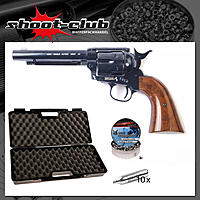 Colt SAA .45 CO2 Revolver 5,5 Zoll 4,5 mm Diabolos Blue Finish im Set