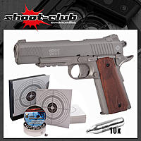 Crosman Colt 1911 CO2 Pistole 4,5 mm Diabolos - Titan - im Set