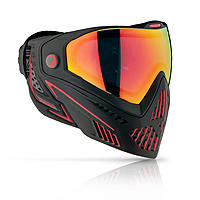 DYE i5 Thermal Maske/Goggle Paintball/Airsoft FIRE black/red