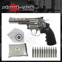 Dan Wesson 4 Zoll CO2-Revolver Kaliber 6mm - Set