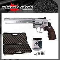 Dan Wesson 8 Zoll CO2 Revolver 4,5 mm BB silber - Koffer-Set