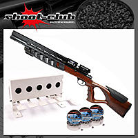 First Strike Eagle 200bar Pressluftgewehr 4,5 mm Diabolos - Biathlon Set