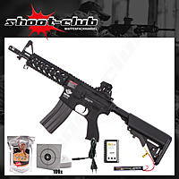 G&G Armament CM16 Raider AEG 6mm max. 0,5J - black im Set