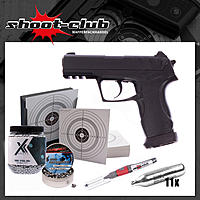 Gamo C-15 CO2 Pistole 4,5mm Diabolos & Stahl BB - Set