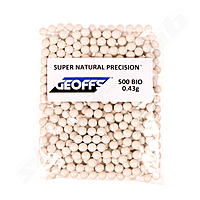 Geoffs 0,43g Bio BB Super Natural Precision - 500 Schuss - Farbe White