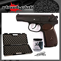 Gletcher Makarov PM CO2-Pistole 4,5mm BB - Vollmetall - Koffer-Set
