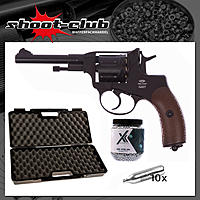 Gletcher Nagant NGT CO2 Revolver Kal. 4,5mm BBs - Koffer-Set