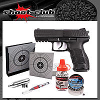 H&K P30 CO2 - Pistole / 4,5mm / Diabolos & BBs / - Set