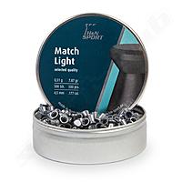 H&N Match Light Luftpistolen Diabolos Flachkopf 4,5mm 0,51g - 500 Stk