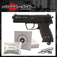 Heckler & Koch P8 Softair CO2-Pistole Kaliber 6mm - Set