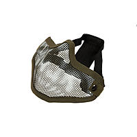 Invader Gear Steel Half Face Mask - OD Green / Skull