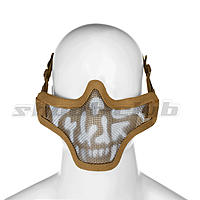 Invader Gear Steel Half Face Mask - TAN / Skull