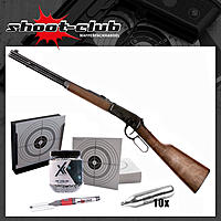 Legends Cowboy Rifle CO2 Gewehr Kaliber 4,5 mm Stahl BBs - im Set