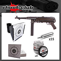 MP40 /4,5mm BB / German Legacy EDITION - shoot-club CO2 komplett Set
