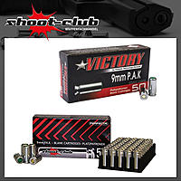 Perfecta shoot-club + Victory Platzpatronen 9mm P.A.K