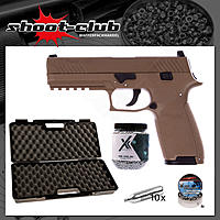Sig Sauer CO2 BlowBack P320 4,5mm BBs coyote tan - Koffer-Set