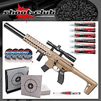 Sig Sauer MCX CO2 Gewehr 4,5mm Diabolo - Dark Earth - Set
