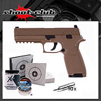 Sig Sauer P320 4,5mm BBs coyote tan - Kugelfang-Set