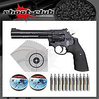 Smith & Wesson 586; CO2-Revolver /4,5mm - Set