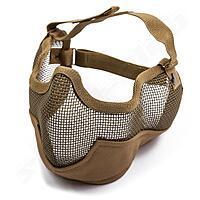 Softair Gittermaske gro� Mundschutz - sandfarben TAN