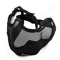 Softair Gittermaske gro� Mundschutz - schwarz BK